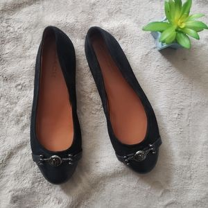 Coach black and silver flats. Size 6